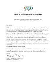 Board of Directors Call for Nominations - International Erosion ...