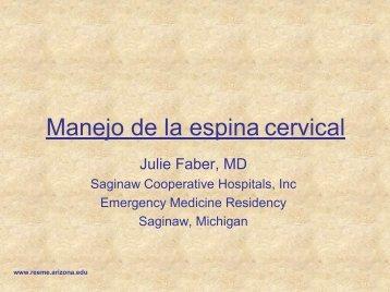 Manejo de la espina cervical - Reeme.arizona.edu