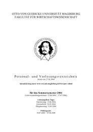Sommersemester 2004 - Fakultät für Wirtschaftswissenschaft - Otto ...