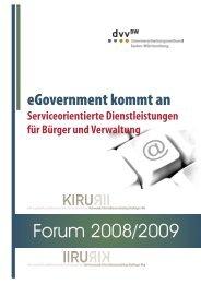 Forum 2008/2009 - komplette Ausgabe - KIRU - Kommunale ...