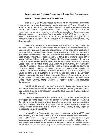 Reuniones de Trabajo Social en la República ... - Ts.ucr.ac.cr