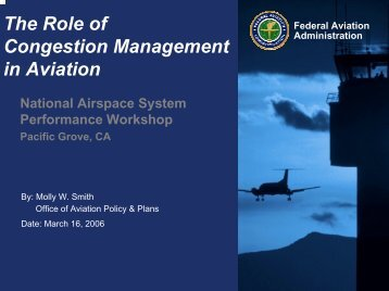 The Role of Congestion Management in Aviation