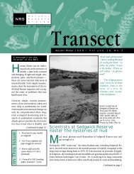Transect vol.16:2 - Natural Reserve System - University of California ...