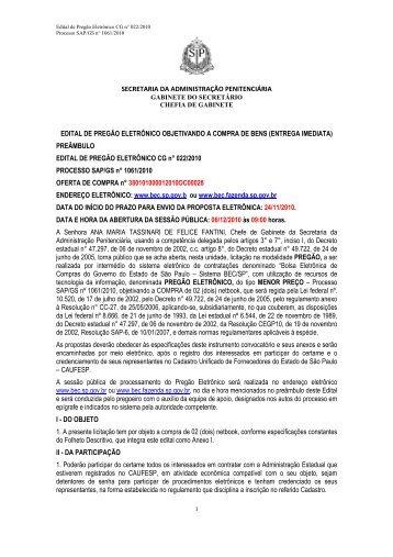 Formato PDF - SAP - Governo do Estado de São Paulo