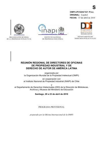 reunión regional de directores de oficinas de propiedad ... - Inapi