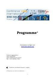 PROGRAMME DERBI 2009 260509 internet