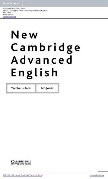 Cambridge Advanced (CAE) Use of English Practice- Answers