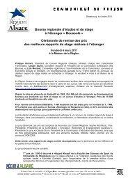 mar11_ CPresse_Prix rapports de stage étranger