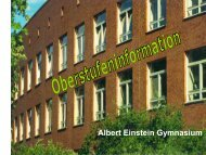 3. Prüfungsfach (Grundkursfach) - Albert-Einstein-Gymnasium