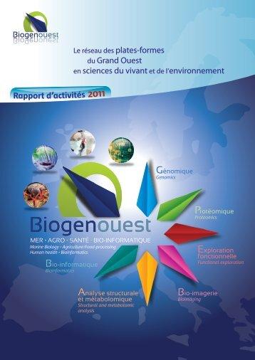 Télécharger le Rapport d'activités 2011. - Biogenouest