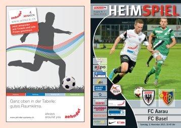 Saison 2013/14 - Ausgabe 7: FC Aarau - FC Basel