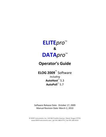 ELITEpro™ DATApro™ - DENT Instruments