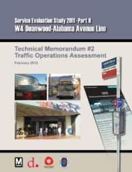 W4 Traffic Assessment - Metrobus Studies