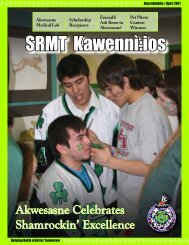 SRMT Kawennì:ios Newsletter - Onerahtókha / April 2011