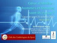 Cœur d'athlète - Club des Cardiologues du Sport