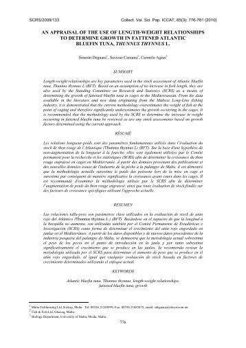 SCRS/2009/133 - Iccat