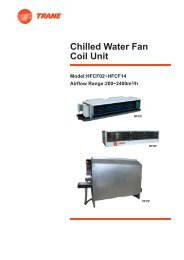 Chilled Water Fan Coil Unit - Trane