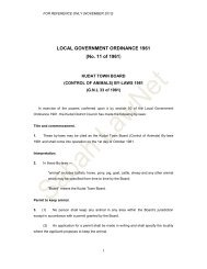 LOCAL GOVERNMENT ORDINANCE 1961 (No. 11 ... - Sabah Lawnet