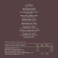 Grille A la Carte Dessert Menu - White Hart Hotel
