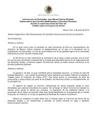 Participación del Embajador Juan Manuel Gómez Robledo ...