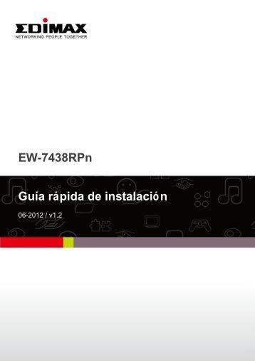 EW-7438RPn Guía rápida de instalación - Edimax
