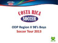 ODP Region II 98's Boys Soccer Tour 2013 - US Youth Soccer ...