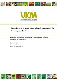Zearalenone exposure from breakfast cereals in Norwegian children