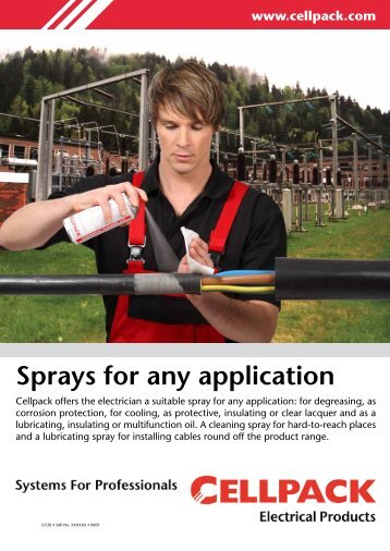 Spray-Flyer - Cellpack Electrical Products