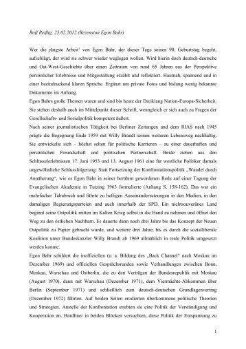 Rezension von Rolf Reißig - Willy-Brandt-Kreis