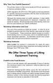 Forklift & Lifting Equipment Operation & Safety Training - Page 2