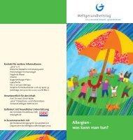 Allergien Flyer - Weltgesundheitstag
