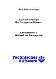 Wechsel der Anbaugeräte - THW Ortsverband Eschweiler