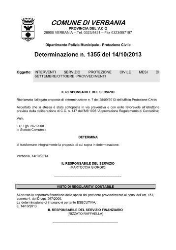 1355: interventi servizio protezione civile mesi di settembre/ottobre ...