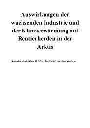 Auswirkungen der wachsenden Industrie und der ... - Arved Fuchs