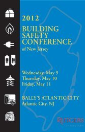 New Jersey 2012 Building Safety Conference