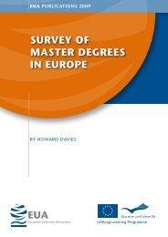 EUA Survey Of Master Degrees In Europe - European University ...