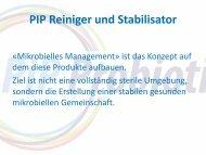 PIP Reiniger und Stabilisator - AG für Tiergesundheit