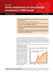 Korea: Implications of rising foreign investment in KRW bonds