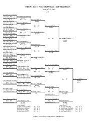 MHSAA Lower Peninsula Division 2 Individual Finals March 7-9 ...