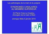 Les syndromes canalaires du membre supérieur - ammppu