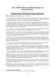 Loi n° 12-03 relative aux études d'impact sur l'environnement ... - estis