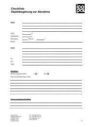 Checkliste Objektbegehung zur Abnahme - Icopal GmbH
