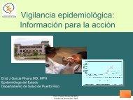 Sesión 2: Vigilancia de enfermedades - Departamento de Salud
