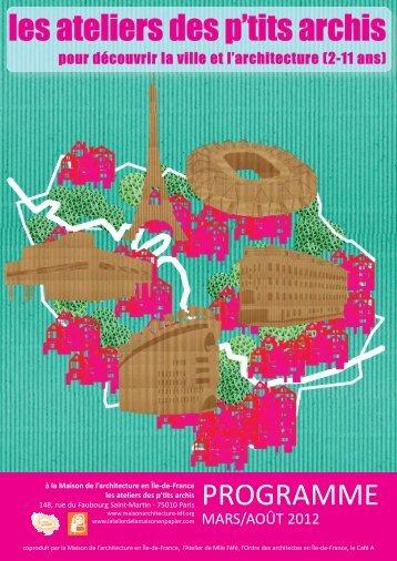 Programmation ateliers mars-août 2012> (PDF – 2 Mo) - Maison de l ...