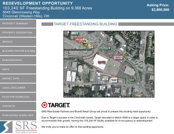 REDEVElopmEnt oppoRtunity - SRS Real Estate Partners
