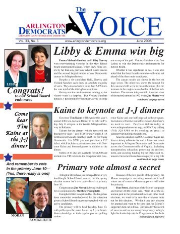 Dem newsletter - Arlington County Democratic Party