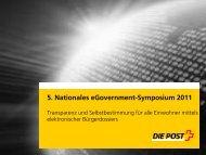 Elektronisches Bürgerdossier - eGovernment-Symposium