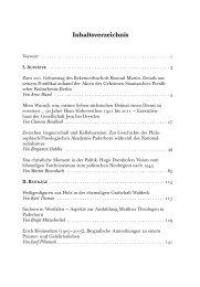 Inhaltsverzeichnis des 8. Jahrgangs 2012