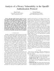 Analysis of a Privacy Vulnerability in the OpenID Authentication ...