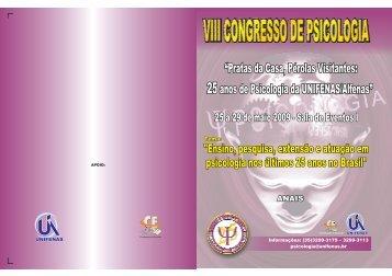 VIII Congresso de Psicologia - Unifenas